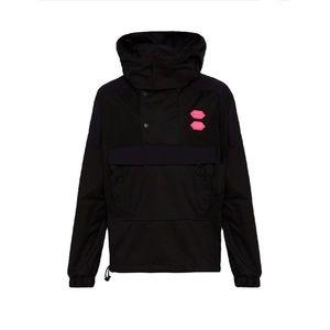 Off-White Logo Hooded Twill Jacket Black XS